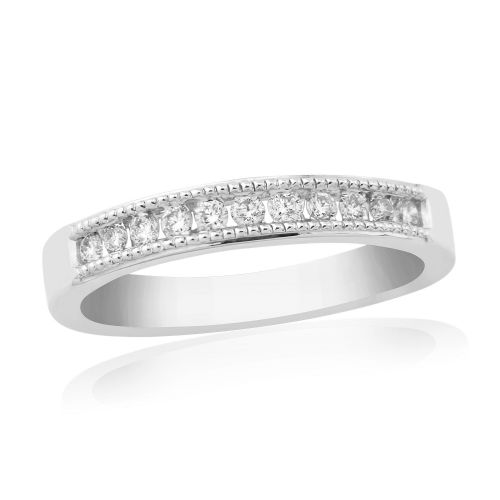 White Gold Diamond Channel Set | Eternity Ring | DR897W